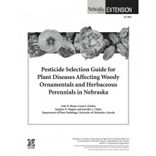 Pesticide Selection Guide for Plant Diseases Affecting Woody Ornamentals and Herbaceous Perennials in Nebraska