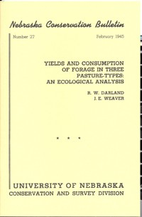 Yields and Consumption of Forage in Three Pasture-Types: An Ecological Analysis (CB-27)
