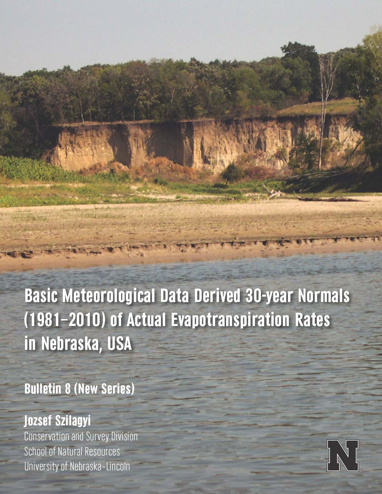 Basic Meteorological Data Derived 30-year Normals (1981 - 2010) of Actual Evaportranspiration Rates in Nebraska, USA (CB-8(NS))