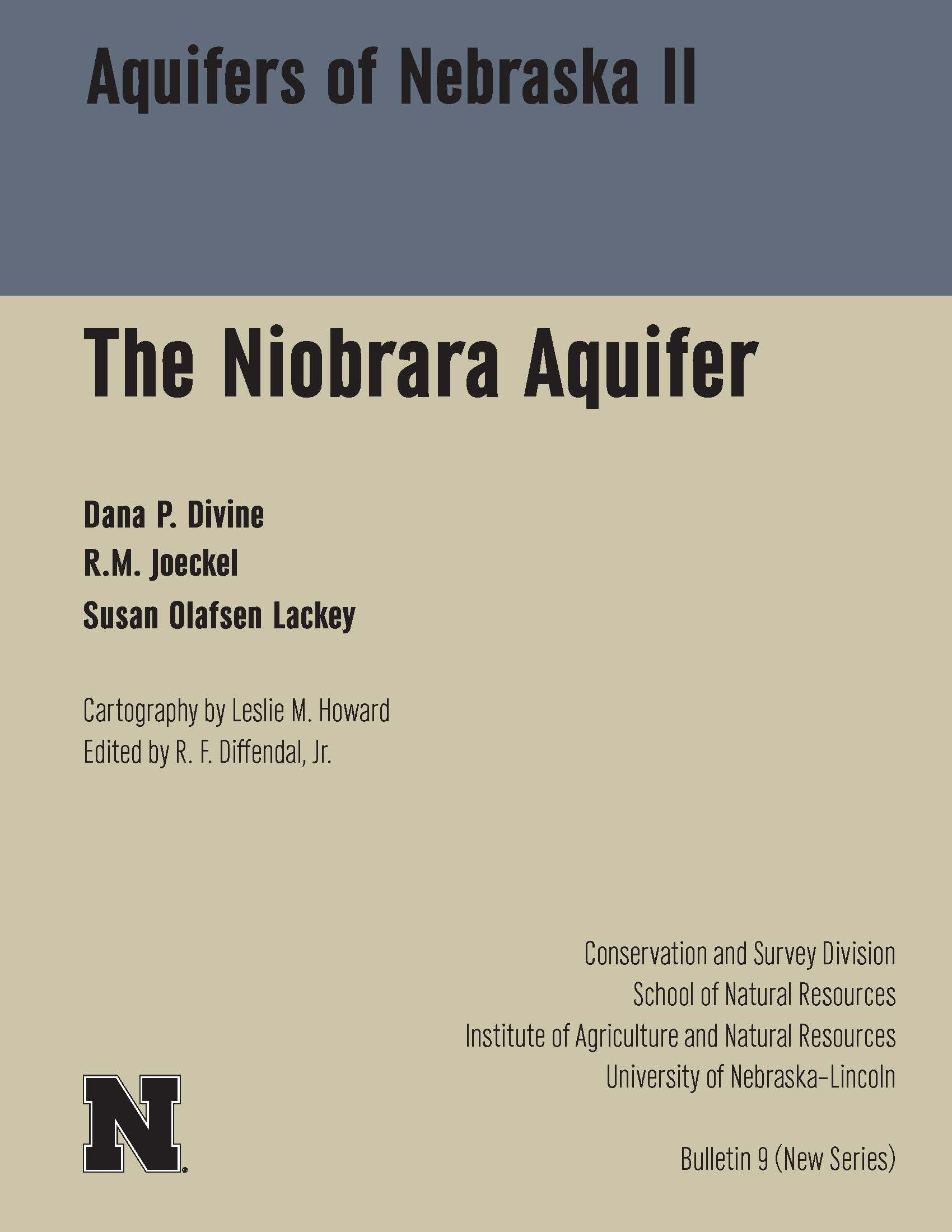Aquifers of Nebraska II The Niobrara Aquifer CB-9(NS)