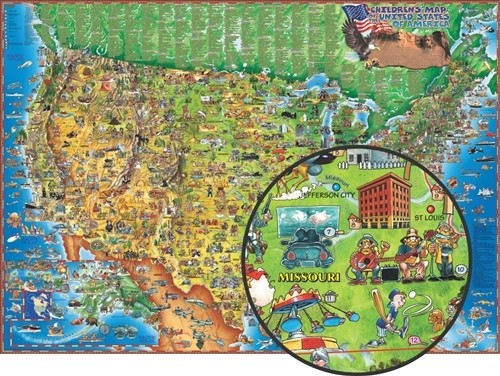 Dino's Illustrated Map of the United States of America (DM005)