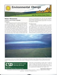 Environmental Change and the Central Great Plains, Water Resources (ESN-3)