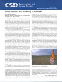 Water Transfers and Marketing in Nebraska (ESN-5)
