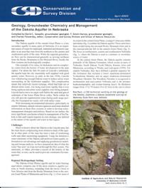 Geology, Groundwater Chemistry and Management of the Dakota Aquifer in Nebraska (ESN-6)