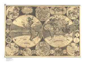 A New and Correct Map of the World,1702 (GIM-173)