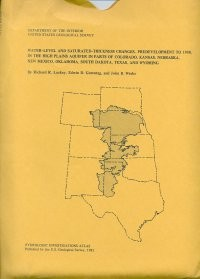 Bedrock Geology, Altitude of Base, and 1980 Saturated Thickness of the High Plains Aquifer in Parts of Colorado, Kansas, Nebraska, New Mexico, Oklahoma, South Dakota, Texas and Wyoming, (HA-648)