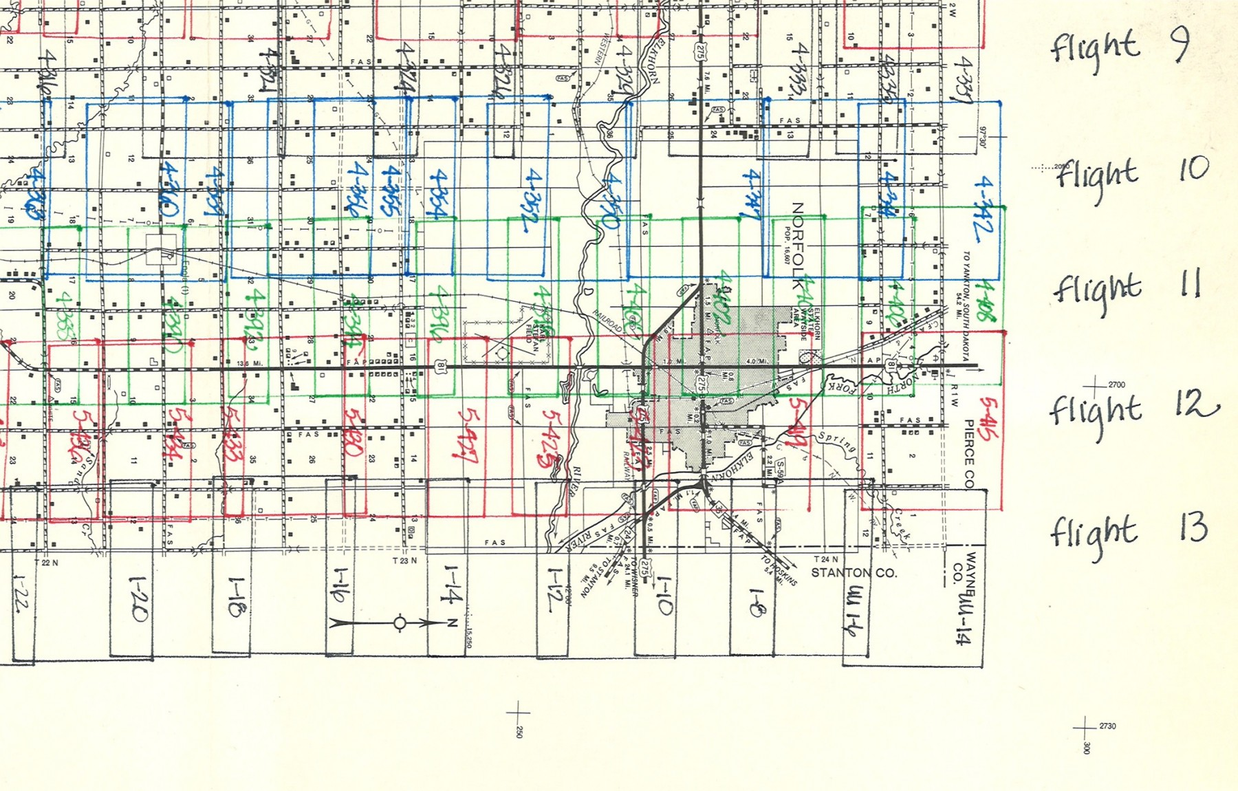 Nebraska aerial photography county index map.  (1M-1A)