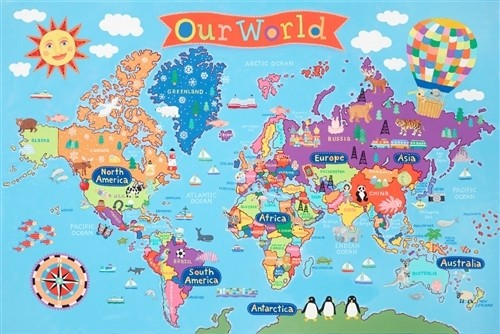 Kid's World Wall Map (KM01)