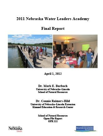 2011 Nebraska Water Leaders Academy Final Report (OFR-111)