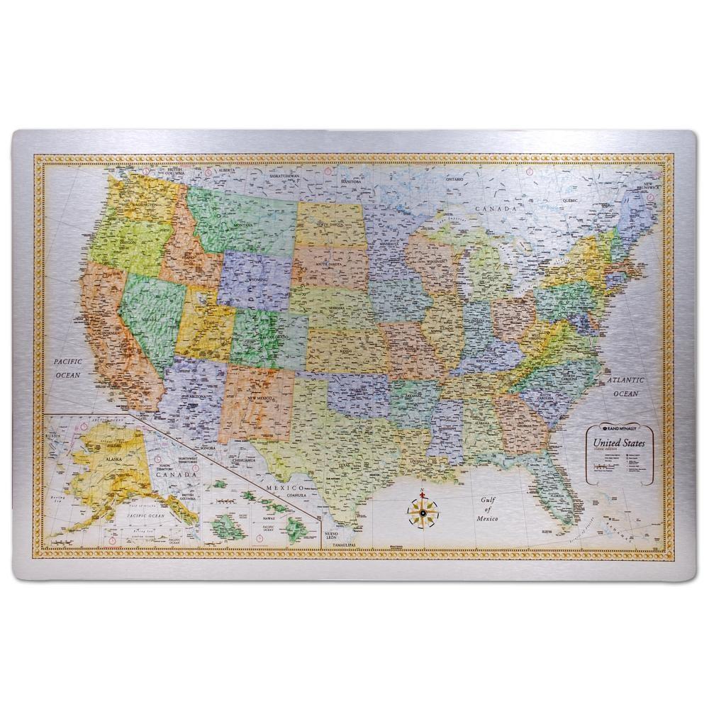 Traveller Series Classic U.S. Metal Map (RMc-4)