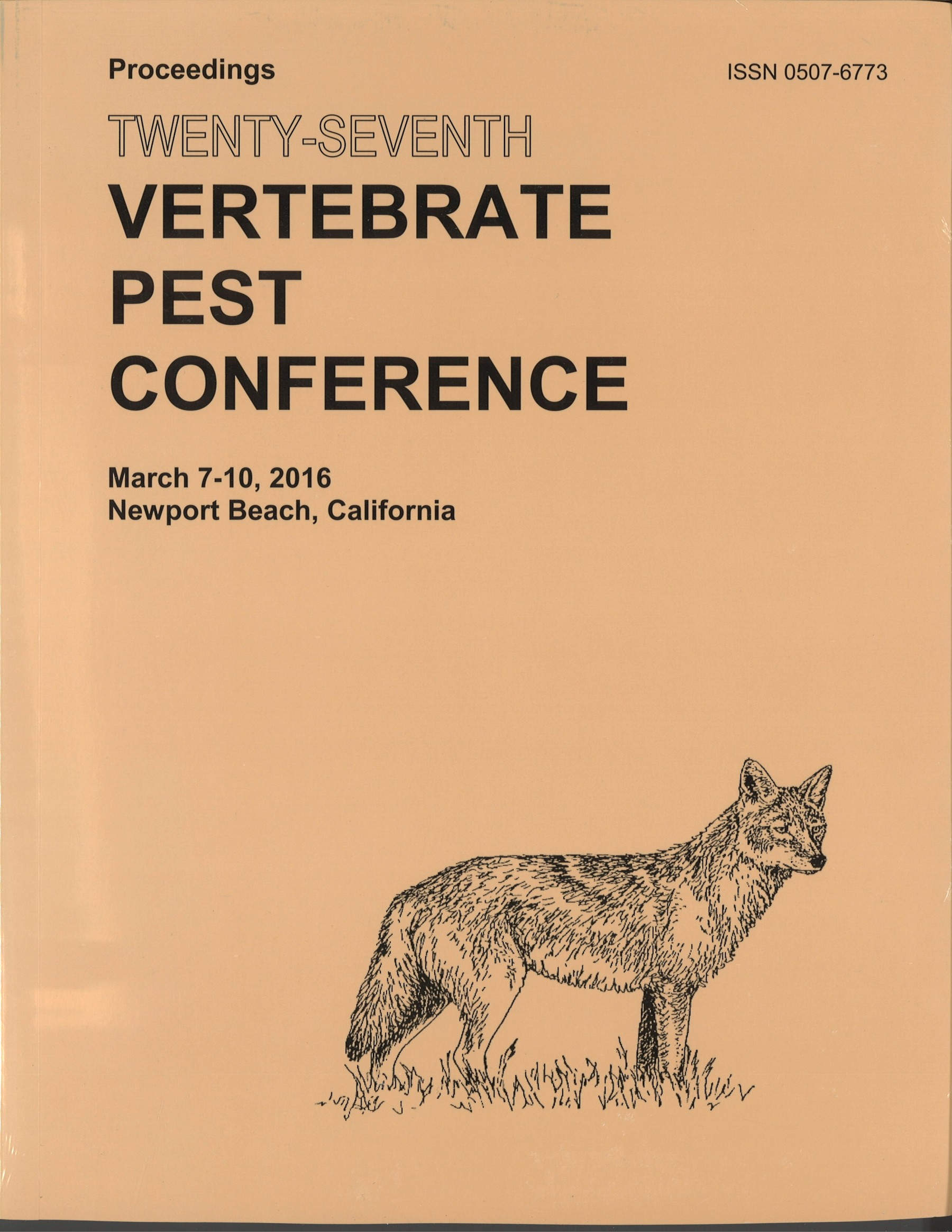 Proceedings of the Twenty-Seventh Vertebrate Pest Conference (VPC-2016)