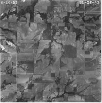 High-quality copy of an aerial photograph selected from our archive by the customer, self-serve. (Aerial-1)