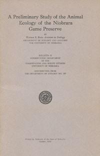 A Preliminary Study of the Animal Ecology of the Niobrara Game Preserve (CB-10)