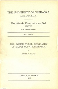The Agricultural Geography of Dawes County, Nebraska (DB-1)