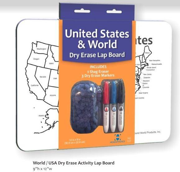 World/USA Dry Erase Lap Board (DE01)