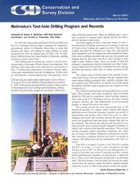 Nebraska's Test-hole Drilling Program and Records (ESN-1)