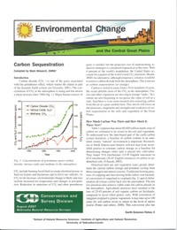 Environmental Change and the Central Great Plains, Carbon Sequestration (ESN-4)