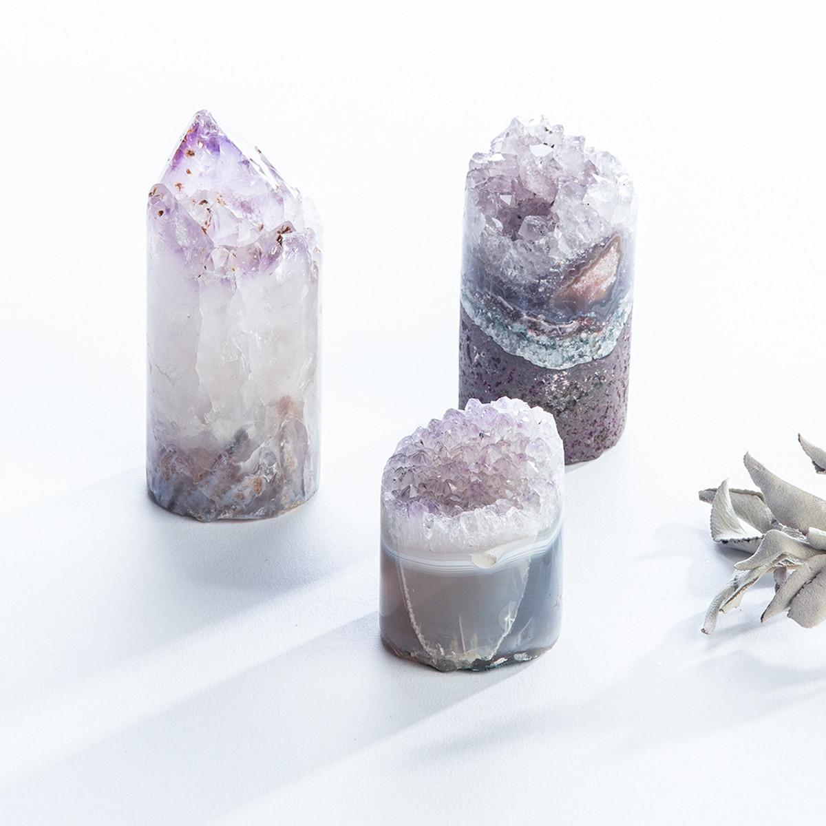 Amethyst Crystal Cupcake (G6014)
