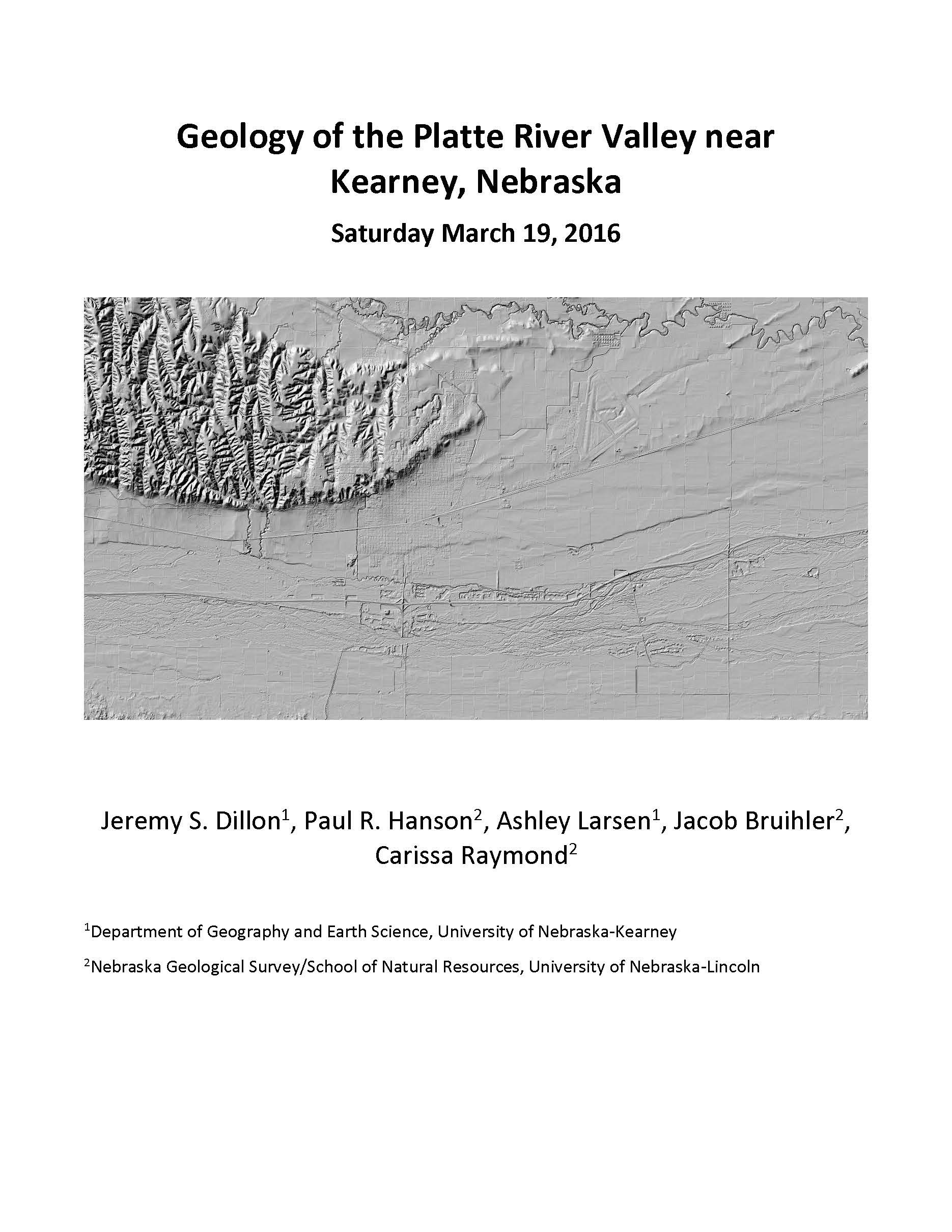 Geology of the Platte River Valley near Kearney, Nebraska (GB-20)