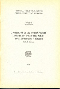 Correlation of the Pennsylvanian Beds in the Platte and Jones Point Sections of Nebraska (GSB-3)
