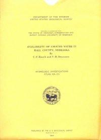 Availability of Ground Water in Hall County, Nebraska (HA-131)
