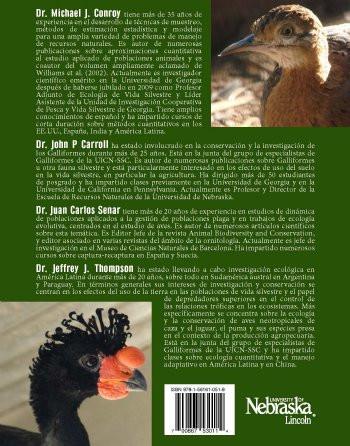 Metodos Cuantitativos para la Conservacion de los Vertebrados (MP-116)