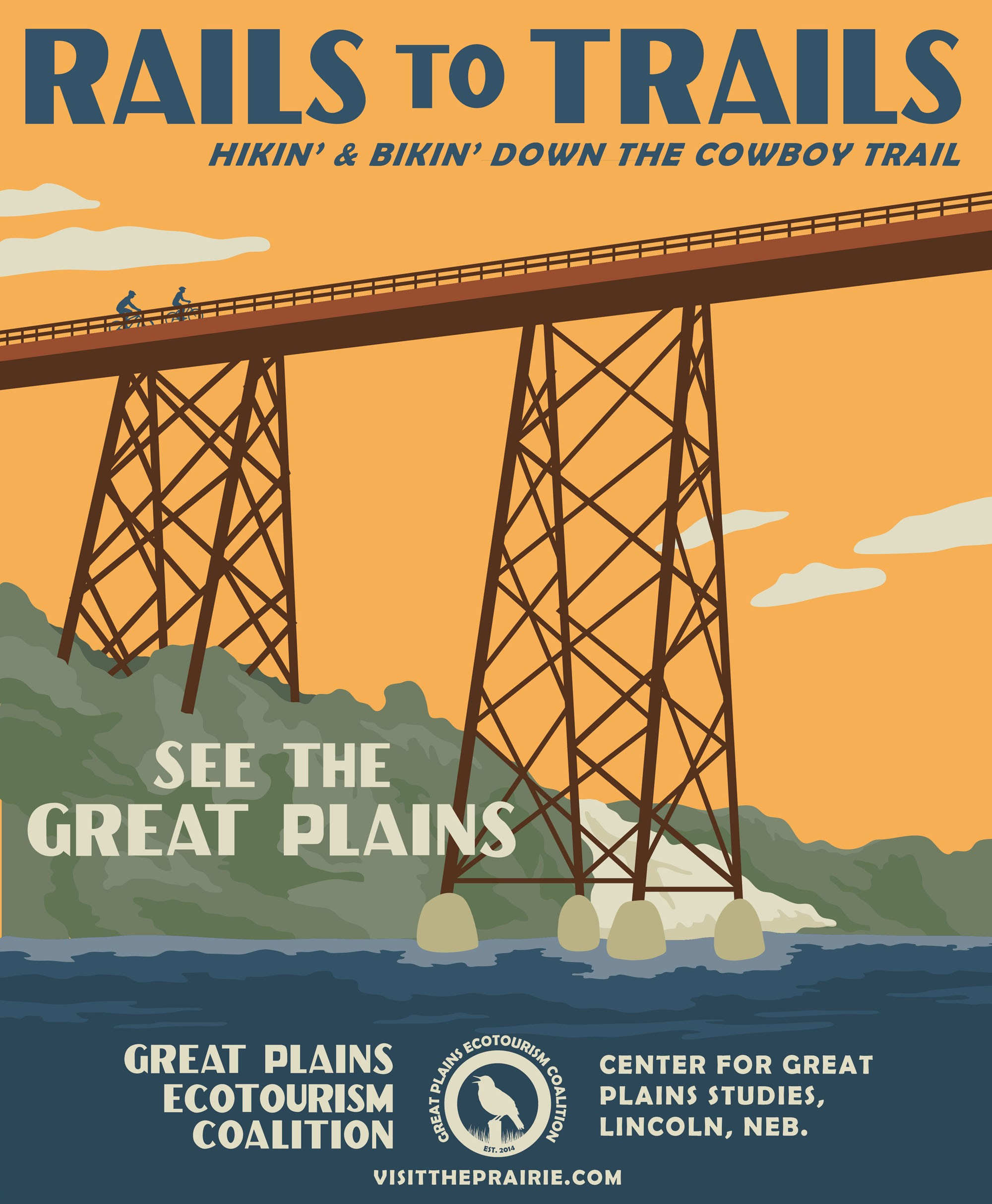 Rails To Trails Poster From The Great Plains Ecotourism Coalition