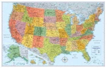Signature Edition U S Wall Maps Rmc 11 Nebraska Maps More