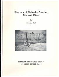 Directory of Nebraska Quarries, Pits, and Mines (RR-1)