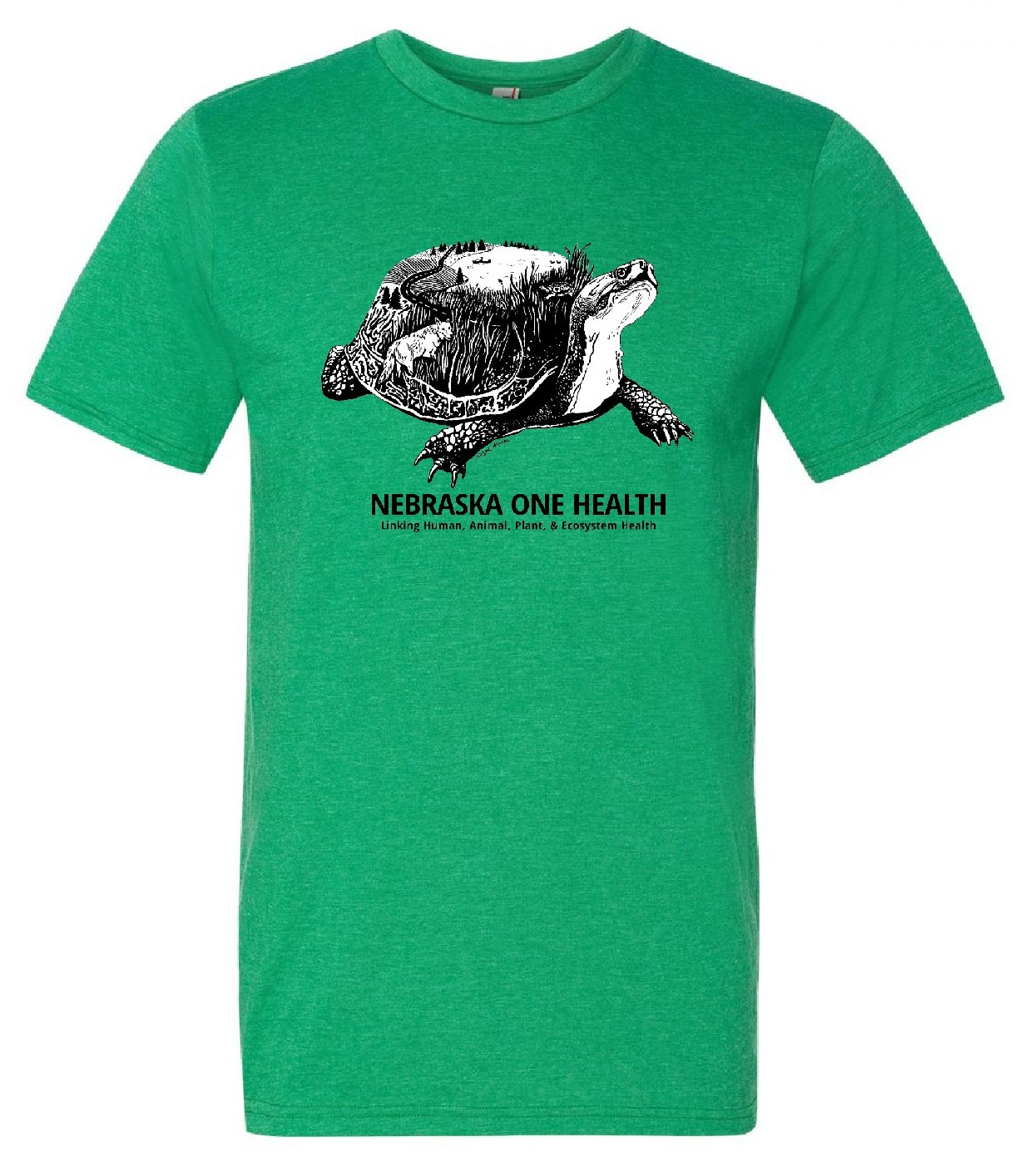 Nebraska One Health Program Green Turtle T-Shirts