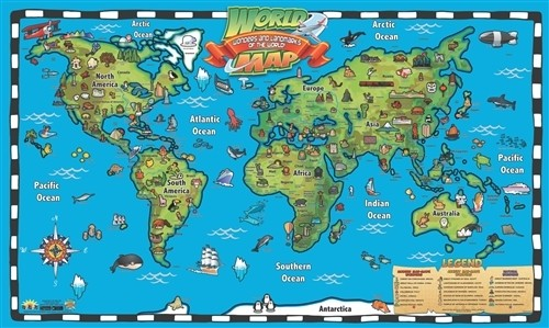 Free Nebraska Map.Kid S World Map Interactive Wall Chart With Free App Wc04