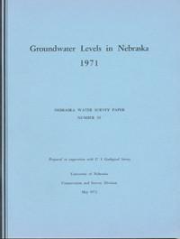 Groundwater Levels in Nebraska, 1971
