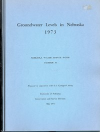 Groundwater Levels in Nebraska, 1973