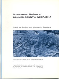 Groundwater Geology of Banner County, Nebraska