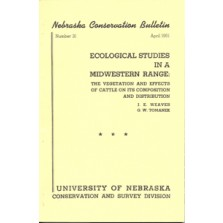 Ecological Studies in a Midwestern Range: The Vegetation and Effects of Cattle on its Composition and Distribution (CB-31)