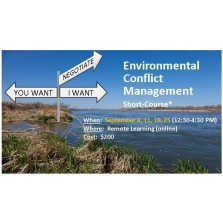 Environmental Conflict Management Short-Course