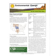 Environmental Change and the Central Great Plains, Past, Present and Future (ESN-2)