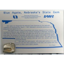State Rock Postcards: Blue, Prairie or Lake Superior Agates (GIM-79)
