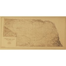 """Areas Where Brule Formation is Used as Aquifer, Nebraska High Plains-Ogallala Aquifer Study Area. 8.5 x 11"""" (Date and Author unknown) (GM-52.2)"""