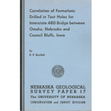 Correlation of Formations Drilled in Test Holes for Interstate 480 Bridge between Omaha, Nebraska, and Council Bluffs, Iowa (GSP-17)
