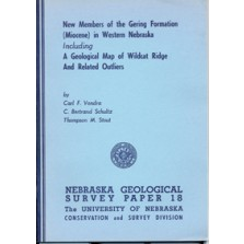 New Members of the Gering Formation (Miocene) in Western Nebraska, Including a Geological Map of Wildcat Ridge and Related Outliers (GSP-18)