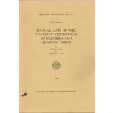Faunal Lists of the Tertiary Vertebrata of Nebraska and Adjacent Areas (GSP-5)