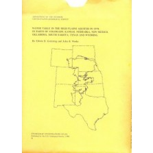 Water Table in the High Plains Aquifer in 1978 in Parts of Colorado, Kansas, Nebraska, New Mexico, Oklahoma, South Dakota, Texas and Wyoming (HA-642)