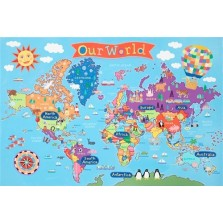 Kid's World Wall Map (KM01)