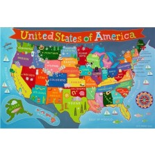 Kid's United States Wall Map (KM02)