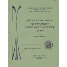 Use of Ground Water for Irrigation in Seward County, Nebraska, in 1971 (OFR-73-08)