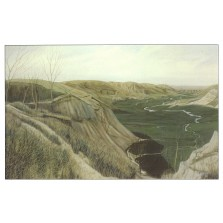 Headwaters of Whitetail Creek Postcard with painting by Anne Burkholder (postcard-2)