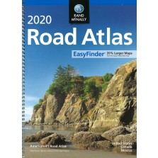 Rand McNally 2020 Road Atlas Mid Size Easy Finder-Spiral (RMc-16)