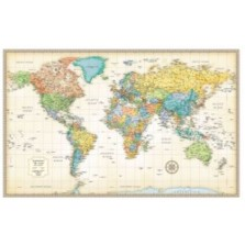 Classic World Wall Map: Laminated (RMc-7)