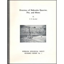 Directory of Nebraska Quarries, Pits, and Mines (RR-1)